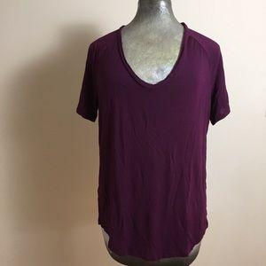 PINK Super Soft T Shirt Sz Xs Distressed V Neck